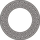 Forntida rund design i svartvitt Arkivbild