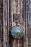 Forntida Rusty Door Knob fotografering för bildbyråer