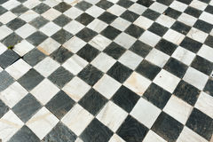 Forntida rutigt golv Royaltyfria Foton
