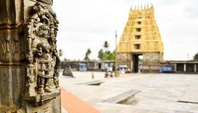Forntida södra indisk tempel Arkivbild