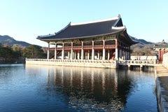 forntida södra korea slott Fotografering för Bildbyråer