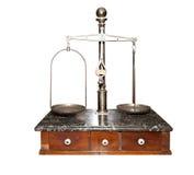 forntida scales för kemist s Arkivfoto