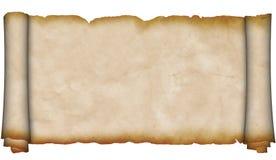 Forntida scroll av parchment. Fotografering för Bildbyråer