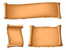 forntida scrolls tre Royaltyfria Foton