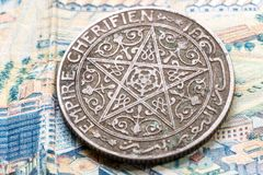 Forntida sedlar av Konungariket Marocko Fotografering för Bildbyråer