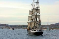 Forntida segelbåt Fotografering för Bildbyråer
