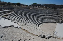 forntida segesta sicily för amfiteater Arkivfoton