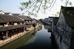 forntida shaoxing watertown Royaltyfria Bilder
