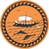 Forntida ship Royaltyfri Bild