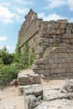 Forntida sida vägg landmark kalkon royaltyfria foton