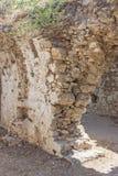 Forntida sida vägg landmark kalkon Fördärvar av den forntida staden royaltyfri foto