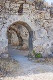 Forntida sida vägg landmark kalkon Fördärvar av den forntida staden royaltyfri bild