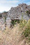 Forntida sida vägg landmark kalkon Fördärvar av den forntida staden arkivbilder