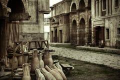 Forntida sikt av byggnaderna Royaltyfri Foto