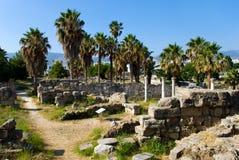 forntida sikt för marknadsplats Arkivbilder