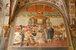 Forntida sjukhus av Santa Maria della Scala, Siena, Italien Royaltyfri Foto