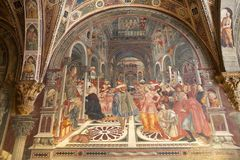 Forntida sjukhus av Santa Maria della Scala, Siena, Italien Royaltyfria Foton