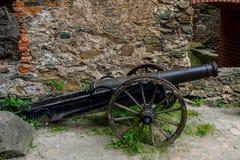 Forntida skjutvapen som bevaras till denna dag Utställning i slotten av Bolkow Polen Arkivbilder