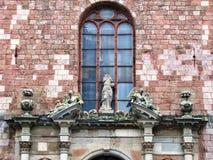 Forntida skulpturer i Riga arkivbild