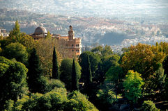 Forntida slott - Alhambra, Gra Royaltyfri Foto
