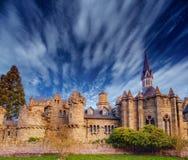 forntida slott Fantastiska sikter skönheten av världen germany Arkivfoton