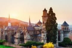 forntida slott Fantastiska sikter skönheten av världen germany Royaltyfri Fotografi