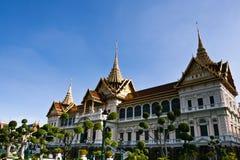 Forntida slott i Bangkok Arkivfoto
