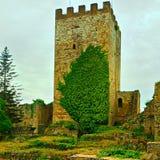 Forntida slott i Enna, Sicilien Arkivbilder