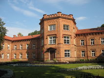 Forntida slott i Litauen Arkivfoto
