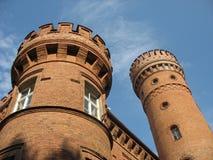 Forntida slott i Litauen Arkivbilder