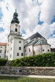 Forntida slott i Nitra, slovakisk republik, kulturarv fotografering för bildbyråer