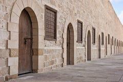 forntida slottdörrar Royaltyfri Fotografi