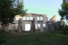 Forntida slottväggar arkivbilder