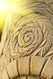 forntida snida mest sunest stenstil Arkivfoto