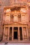 forntida sniden kassa för rock för stadsjordan ut petra jordan petra royaltyfri foto