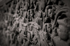 Forntida sniden sten Royaltyfri Fotografi