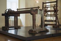 Forntida snurrhjul arkivbild