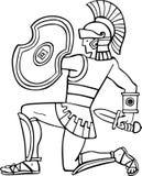 forntida soldat Royaltyfri Fotografi