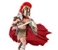 Forntida soldat eller gladiator royaltyfria foton