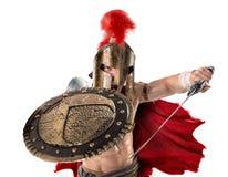 Forntida soldat eller gladiator royaltyfri fotografi