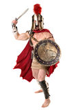 Forntida soldat eller gladiator royaltyfri bild