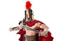 Forntida soldat eller gladiator royaltyfria bilder