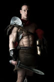 Forntida soldat eller gladiator arkivfoton