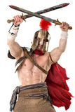 Forntida soldat eller gladiator royaltyfri foto