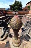 Forntida springbrunn i Bhaktapur nepal Nu förstört efter en mass Arkivbilder