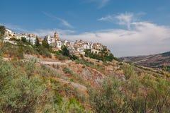 Forntida stad Atessa, Abruzzo, Italien Arkivbilder