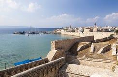 Forntida stad av Akko i morgonen israel Royaltyfria Foton