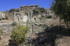 Forntida stad av bibliska Ashkelon i Israel Arkivbilder
