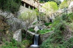 Forntida stad av Cortona Tuscany arkivfoton