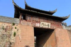 Forntida stad av Huizhou, Anhui, porslin royaltyfri foto
